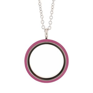 Picture of Fuchsia Enamel Locket